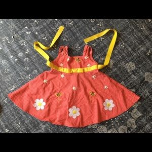 Blueberi Boulevard daisy bumble bee dress 12m